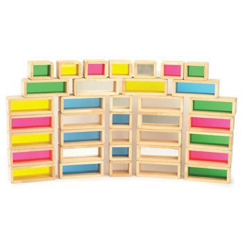 Construction, Rainbow Bricks, Age 2+, Set of 36 Pieces