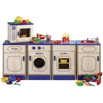 Nursery Kitchen Furniture, Assembled 5 Piece Kitchen Set Plus 81 Piece Kitchen Play Set