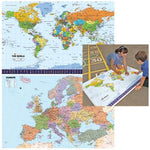Maps, Reversible World/Europe, 840 x 1180mm, Each