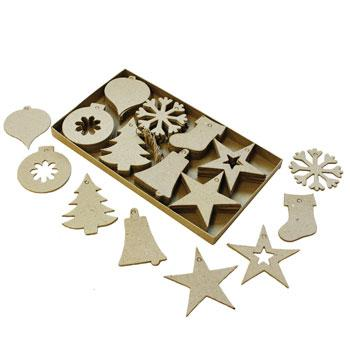 Christmas Cut Out Decorations, Pack of 80