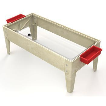 Sand & Water Activity Table with Lid, Without Castors, Oatmeal, Each