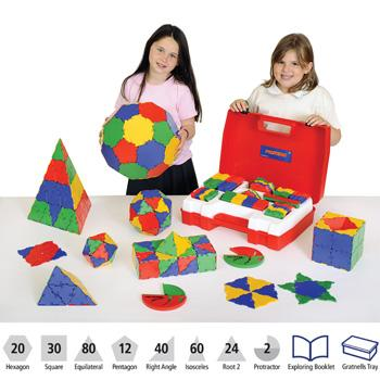 Polydron, Geometry Set With Teacher's Guide, Age 5-11, Set