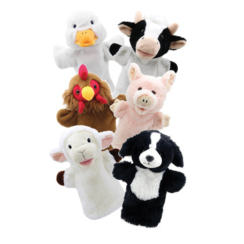 Puppet, Glove, Farm Animals, Set of 6