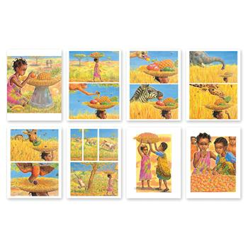 Outdoor Sequencing Cards, Handa's Surprise, Age 3+, Set of 8 Cards