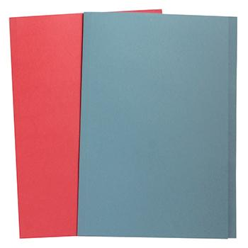 Manilla Folders, Square Cut, Foolscap, 180gsm, Red, Box of 100
