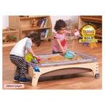 Sand & Water Play Stations, Millhouse Large Sand & Water Stations, With 3 Clear Tubs, 590mm Height, Set