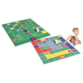 Double-Sided Robot Play Mats, Cheese and Cat Chase, Each