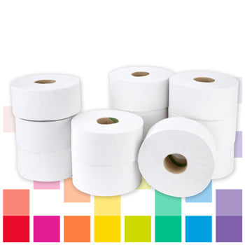 Smartbuy, Mini Jumbo Toilet Rolls, 2 Ply, Case of 12 Rolls
