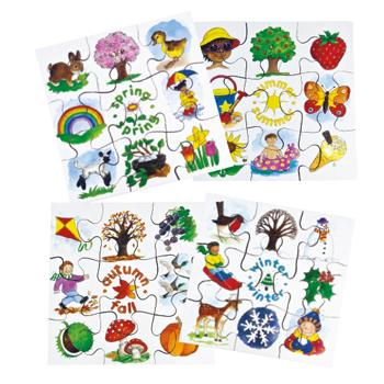 Seasons Puzzles, Age 3+, Set of 4