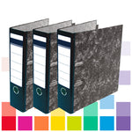Files, Lever Arch, A4 Upright, 63Mm Capacity, 2 Ring Mechanism, Mottled Effect Finish, Box of 10