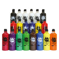 Ocaldo Ready Mixed Poster Paints, Introductory Pack, Pack of 20 x 600ml