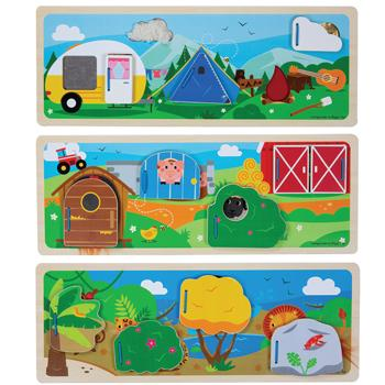 Sensory Board Set, Age 3+, Set of 3