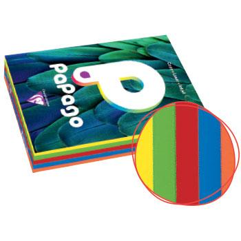 Adagio Tinted Copier Paper, Vivid Colours, A5, 80gsm, Assorted Colours, Ream of 5 x 100 Sheets