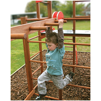 Millhouse Wooden Climbing Frame, With Monkey Run, Age 3+, Set