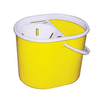 Syr Clean, Buckets and Wringers, Oval Combo Mop Bucket, 7 Litres, Each