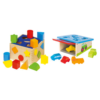 Nursery Toys, Sort Boxes, Set of 2