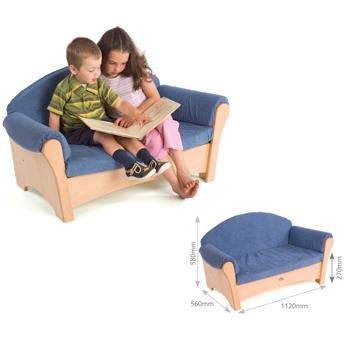 Children's Furniture, Soft Seating, Child's Sofa, Beige (J650)