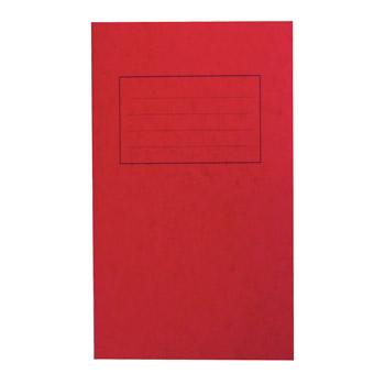 Exercise Books, Premium Range, 6 1/2 x 4'' (165 x 102mm), 48 Pages, Red, 8mm Ruled, Pack of 50