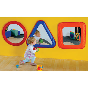 Play Equipment, Soft Mirror Shapes, Age 0-3, Set of 3