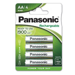 Batteries, Panasonic Evolta Rechargable, Size AA, Pack of 4
