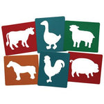 Stencils, Farm Animals, Pack of 6