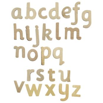 Wooden Letters, Lower Case, Set of 60