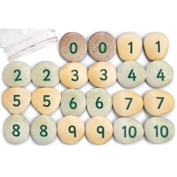 Number Pebbles 1-10, Age 3+, Set of 22