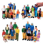 Block People, Ethnic Families, Set of 8