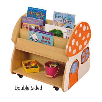 Double Sided Book Storage, Mushroom House, Each