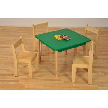Coloured & Natural Beechwood Furniture, Tables, Square