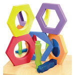 Small Hexagonal Softies, Age 3+, Set of 5