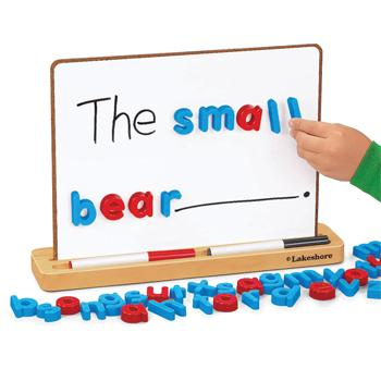 Magnetic, Write & Wipe Board Stand, Age 3+, Each