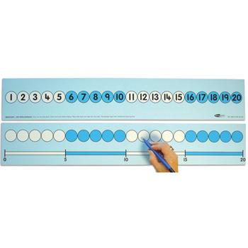 1-20 Number Track, Teacher, 700mm Long, Each