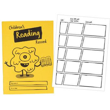 A5 Reading Records, Children's, Pack of 25
