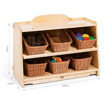 Children's Furniture, Craft Shelf 3 With Totes Or Baskets (H575)