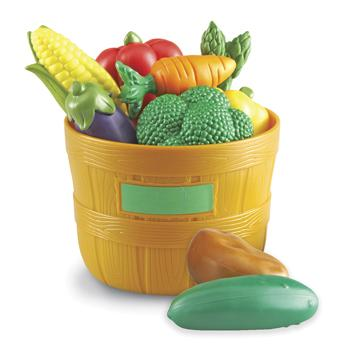 Plastic Tub of Vegetables, Age 18 Mths+, Set of 9