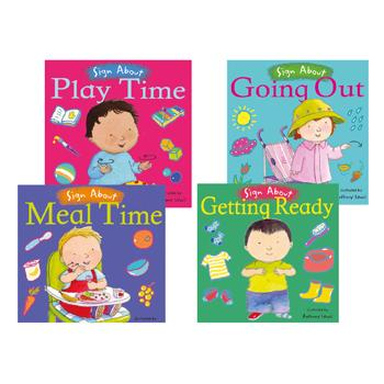 Sign About Books, Age 6 Mths+, Set of 4