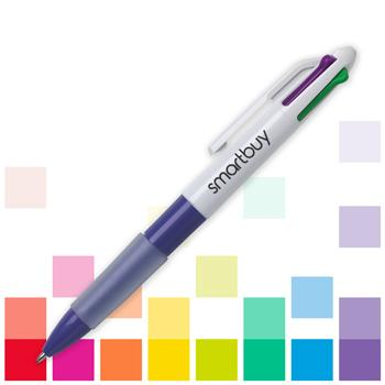 Smartbuy, Ballpoint, MULTIPENS, 4 Colour Bright, Pack of 10