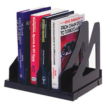 Adjustable Book Rack, Blue, Each