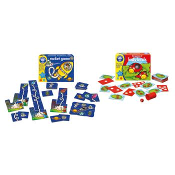 Number Games, Ladybirds + Rocket, Pack of 2