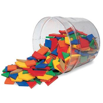 Geometry Patterns & Symmetry, Pattern Blocks, Age 3+, Tub of 250 Pieces