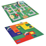 Double-Sided Robot Play Mats, Little Town Robot, Each