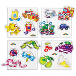 Peg Puzzles, Peg Puzzles, Age 1+, Set of 4