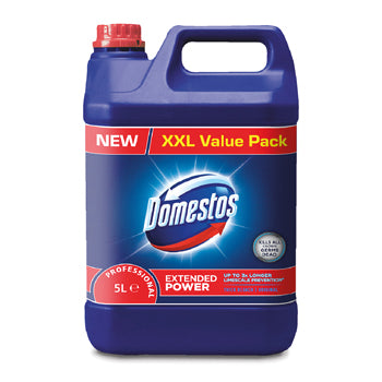 Disinfectants, Domestos Bleach, Diversey, Case of 4 x 5 Litres