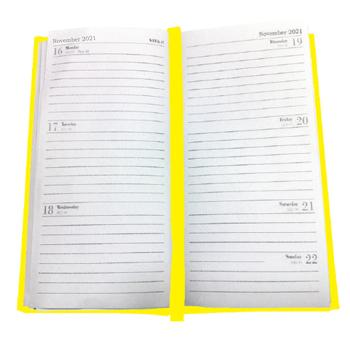 Pocket Diary 2021, One Week To View, 155 x 80mm, Yellow, Each