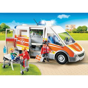 Playmobil(R) Ambulance With Lights & Sound, Ages 4+, Set