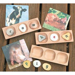 Word-Building Trays, 3 Pebble, Age 18 months +, Set of 6