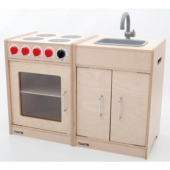 Wooden Cooker & Sink Set, Set