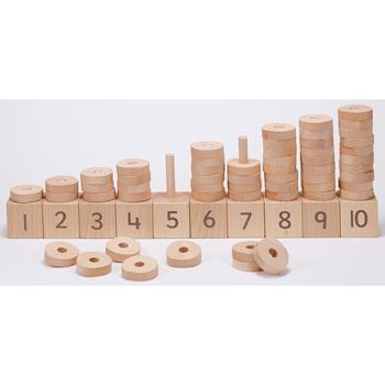 1-10 Natural Number Stacker, Age 2+, Set