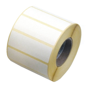 White Self-Adhesive Labels, Non Printer, Reels, Rectangular, 75 x 25Mm, Reel of 1500